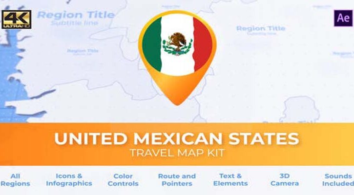 Mexico Map - United Mexican