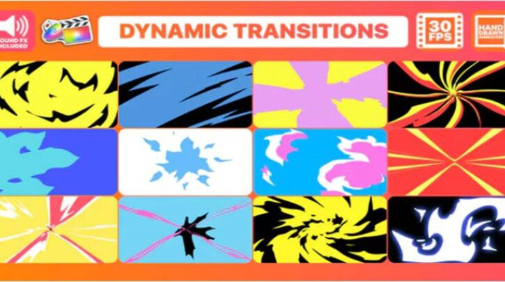 Dynamic Transitions FCPX Videohive 31973145