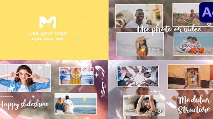 Happy Slideshow After Effects videohive 31852430
