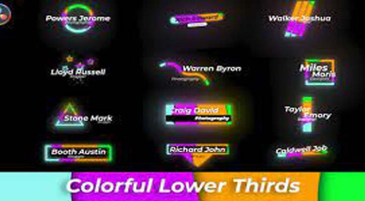 Colourful Lower Thirds Videohive 32610868
