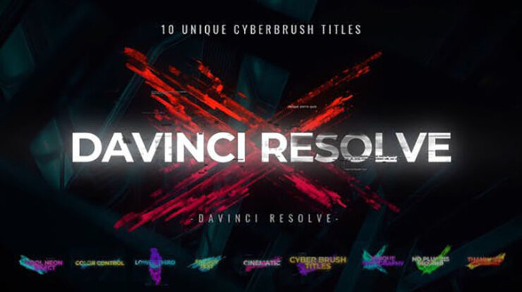 Cyber Brush Titles Videohive 31007799