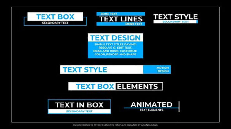 Text Elements Videohive 33512071