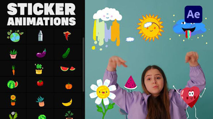 Nature Emoji Stickers Animations After Effects